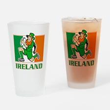 Irish leprechaun rugby player Irela Drinking Glass