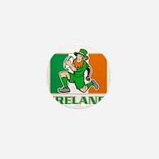 Irish leprechaun rugby player Ireland  Mini Button