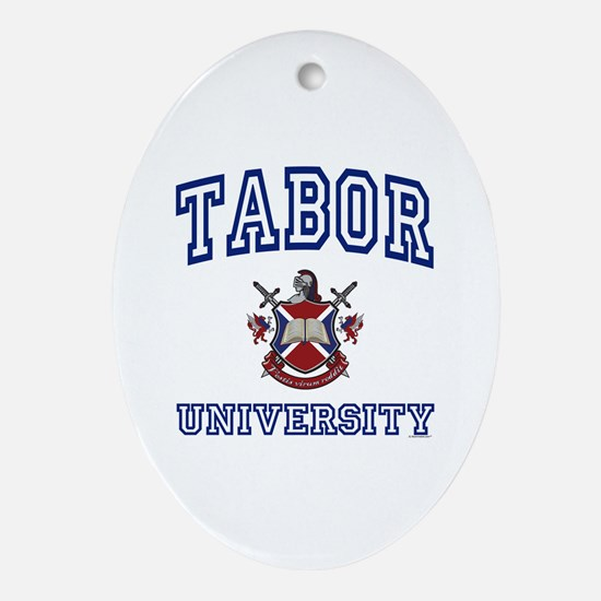 TABOR University Oval Ornament