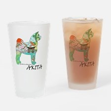 Akita National Treasure (light) Drinking Glass