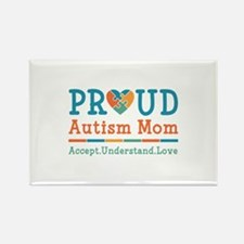 Proud Autism Mom Rectangle Magnet (100 pack)