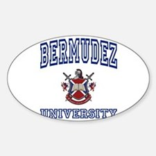 BERMUDEZ University Oval Decal