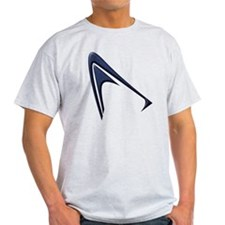 Pointy Curve blue T-Shirt