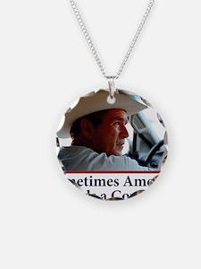 BUSH-HAT.-white-Cowboy-eps Necklace
