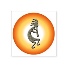 "Kokopelli circle Square Sticker 3"" x 3"""