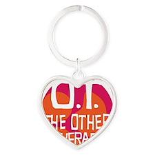 OT-other-therapy-tshirt-orange Heart Keychain
