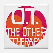 OT-other-therapy-tshirt-orange Tile Coaster