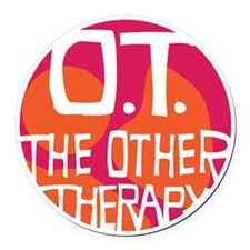OT-other-therapy-tshirt-orange Round Car Magnet