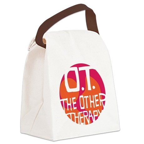 OT-other-therapy-tshirt-orange Canvas Lunch Bag