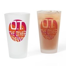 OT-other-therapy-tshirt-orange Drinking Glass