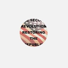 THE SECOND REVOLUTION RESTORING THE RE Mini Button