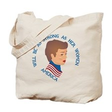 As Strong as her women Tote Bag