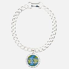 gandhi_earth_bethechange Bracelet