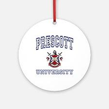 PRESCOTT University Ornament (Round)