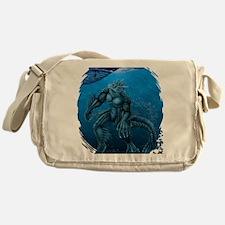 seacreatureBLUEshirt Messenger Bag