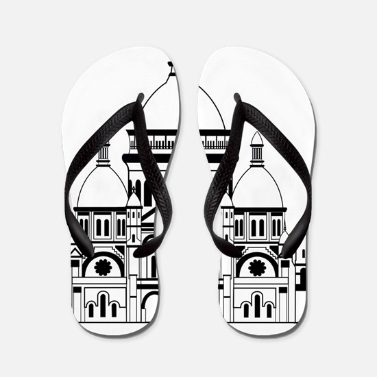 Inspired by the Sacre Coeur, Montmartre Flip Flops
