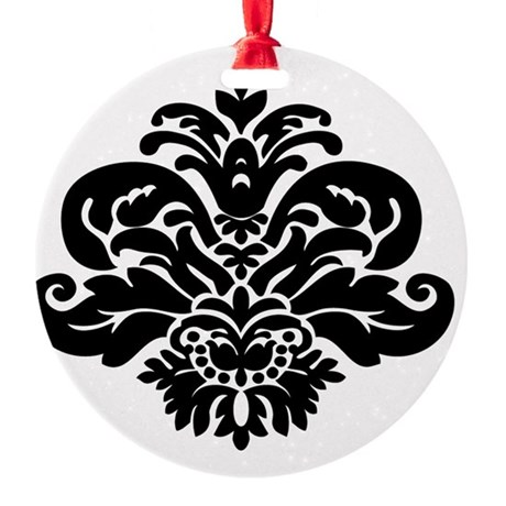 damask Round Ornament