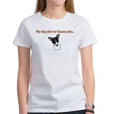 dog ate teachers lesson plan Tee