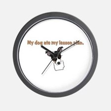 dog ate teachers lesson plan Wall Clock