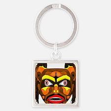 Bear Mask Square Keychain