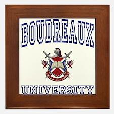 BOUDREAUX University Framed Tile