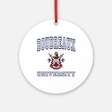 BOUDREAUX University Ornament (Round)
