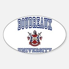 BOUDREAUX University Oval Decal
