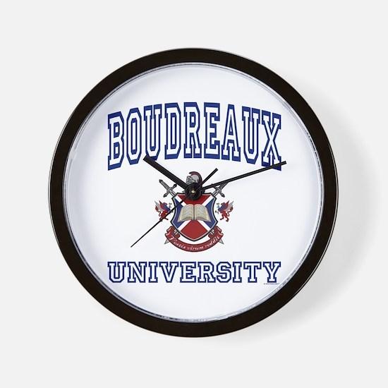 BOUDREAUX University Wall Clock