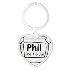 phil_label_zazzle Heart Keychain