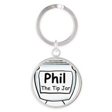 phil_label_zazzle Round Keychain