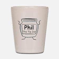phil_label_zazzle Shot Glass