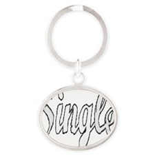 Single10x10 Oval Keychain