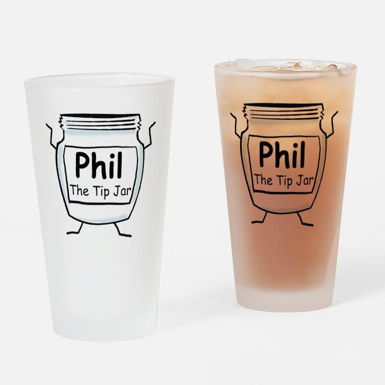 phil_label_zazzle Drinking Glass