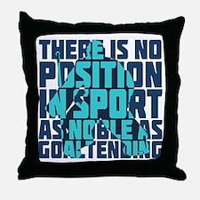Noble Hockey Goalie Throw Pillow