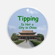 china_button_zazzle Round Ornament