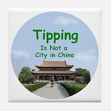 china_button_zazzle Tile Coaster