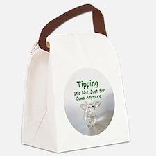 cows_button_zazzle Canvas Lunch Bag