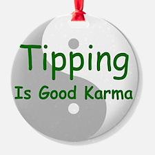 karma_label_zazzle Ornament