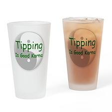 karma_label_zazzle Drinking Glass