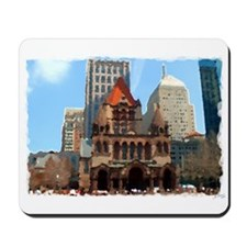 Trinity Church (Watercolor) - Mousepad