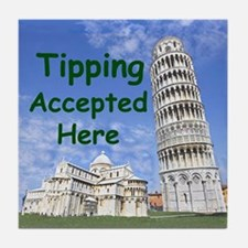 tipping_accepted_here_zazzle Tile Coaster