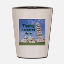 tipping_accepted_here_zazzle Shot Glass
