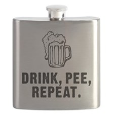 Drink Pee Repeat Flask