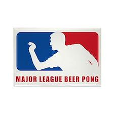 Major League Beer Pong Rectangle Magnet