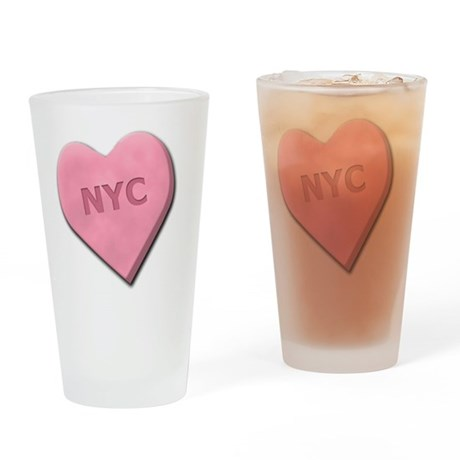 SWEETHEARTNYCPINK Drinking Glass