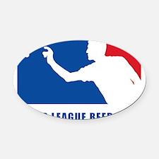Major League Beer Pong 2 Oval Car Magnet