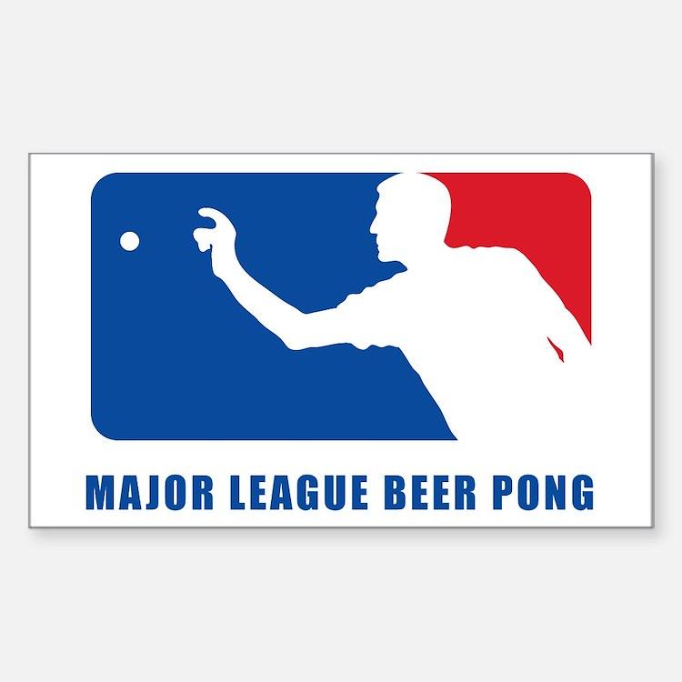 Major League Beer Pong 2 Sticker (Rectangle)