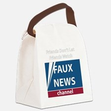 2-FoxNews-white Canvas Lunch Bag