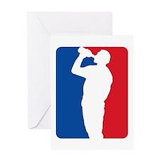 Major League Beer Greeting Card