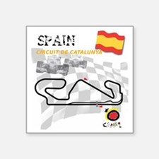 "Catalunya Square Sticker 3"" x 3"""